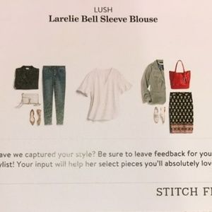 Lush Larelie Bell Sleeve Blouse